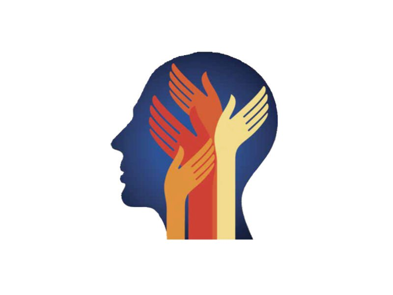 Image of a person with helping hands over their head