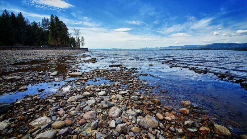Beautiful rocky shoreline