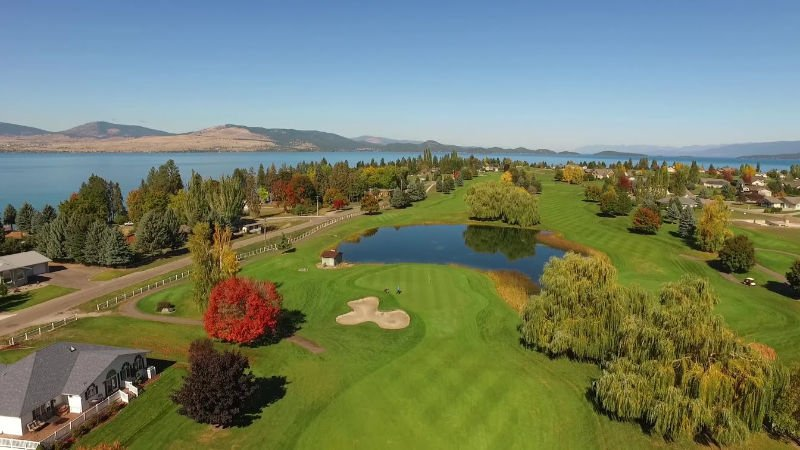 Golf course along Flathead Lake