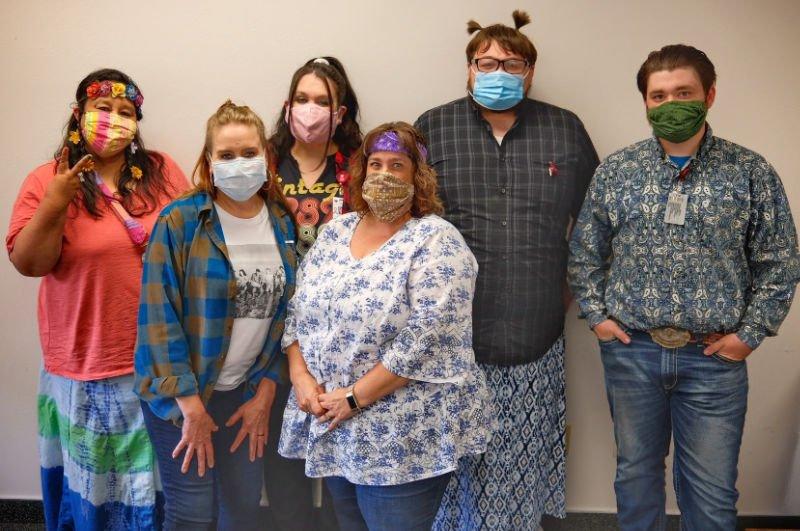 St Luke staff members in masks